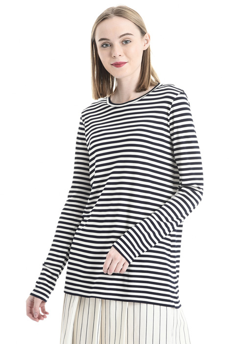 Striped jersey sweater  Diffusione Tessile