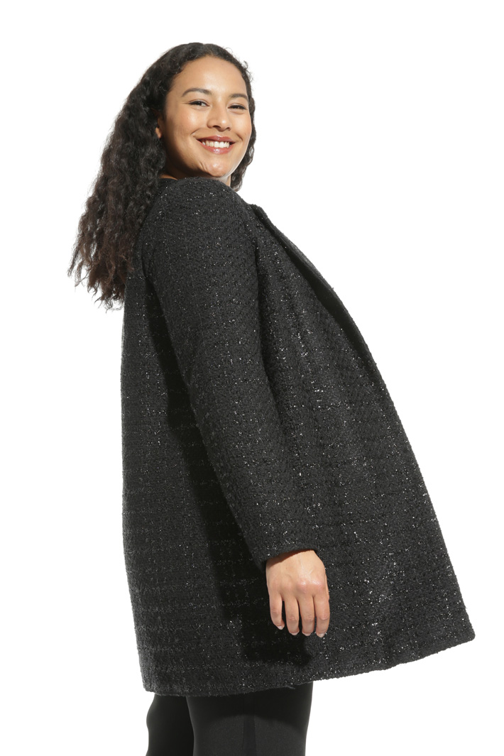 Cappotto in stuoia lurex Intrend