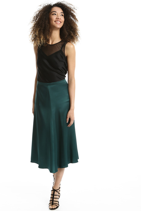Fluid envers satin skirt Intrend