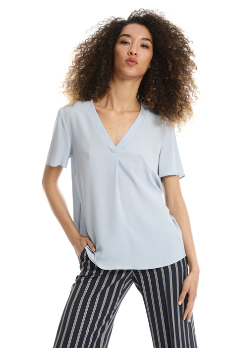 Boxy-fit georgette top Intrend