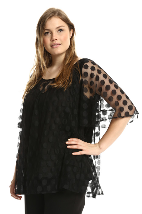 Jacquard tulle top Intrend