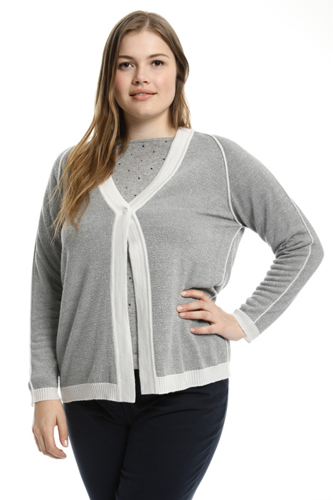 Cardigan in maglia punto links Intrend