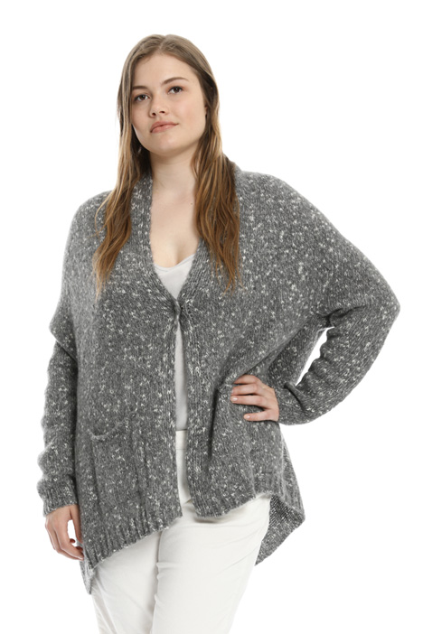 Cardigan in mohair mouliné Intrend