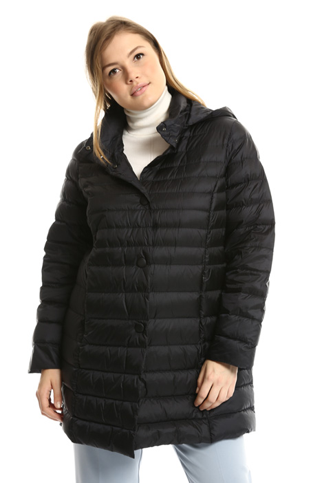 Fitted satin down coat Intrend