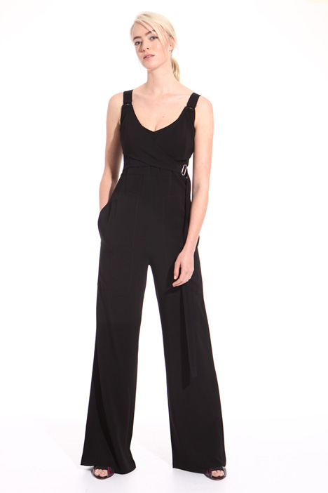 Viscose cady long jumpsuit Intrend