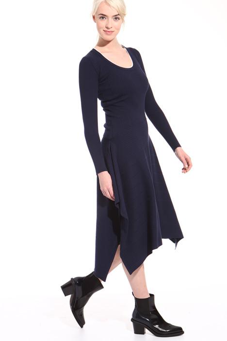 Asymmetrical knit dress Intrend