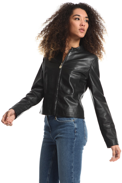 Leather biker jacket Intrend