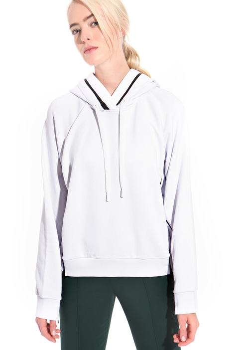 Cotton sweatshirt with zip  Intrend