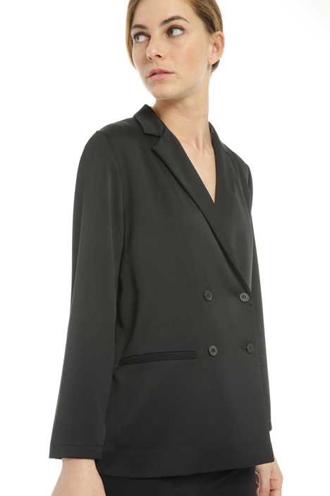 Double-breasted satin blazer  Intrend