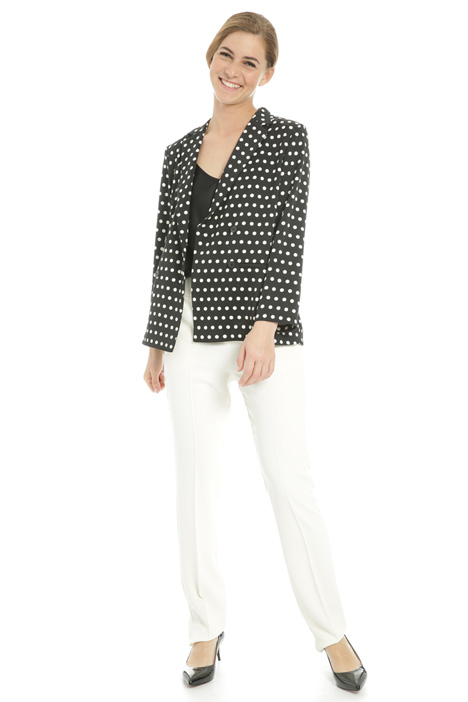 Polka dot satin blazer  Intrend