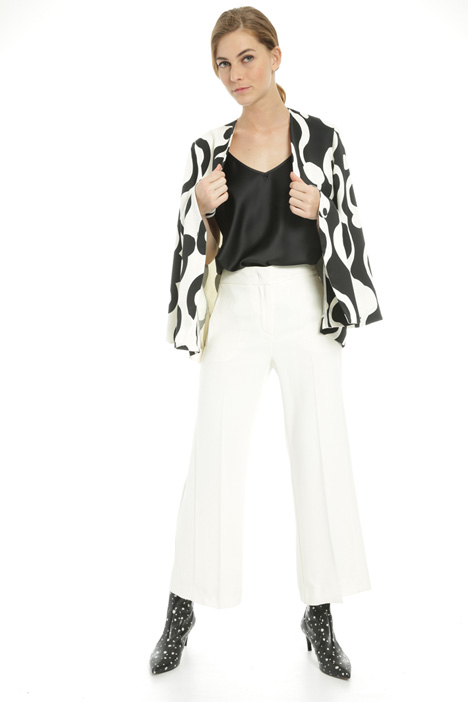 Cropped crepe trousers  Intrend