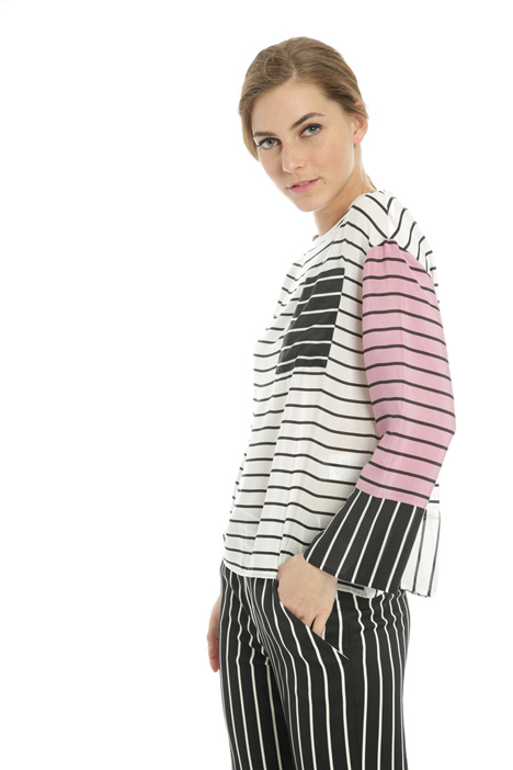 Pure silk striped blouse  Intrend