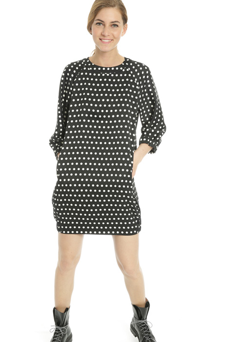 Polka-dot cocoon dress Intrend