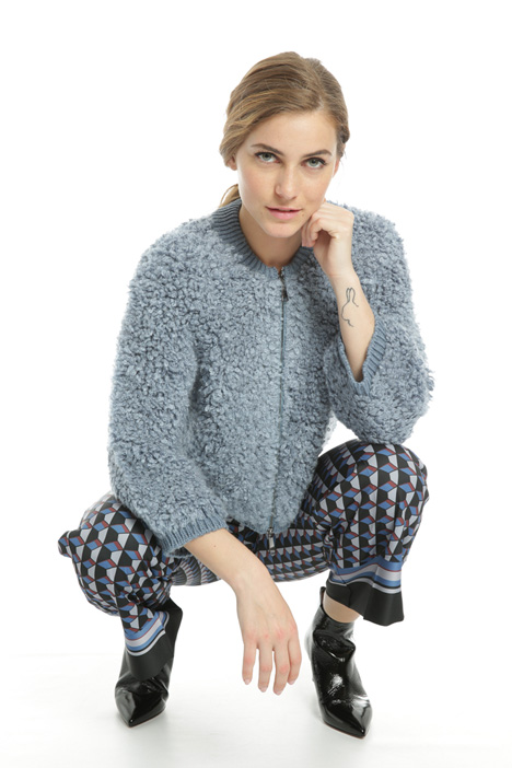 Knit bouclé bomber jacket Intrend