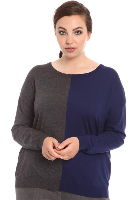 Maglia bicolor in pura lana Intrend