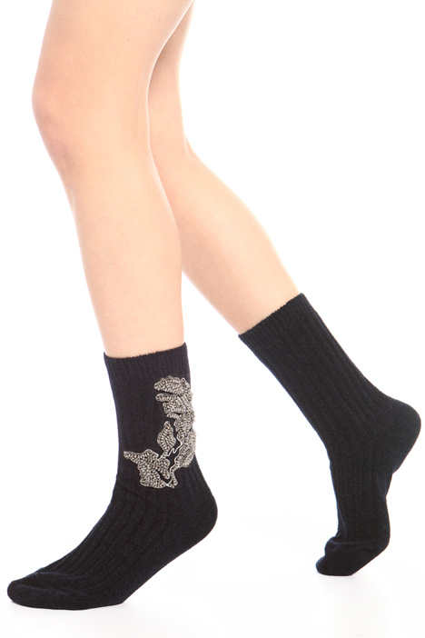 Velvet crew socks Intrend