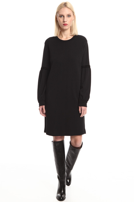 Fleece jersey dress Intrend