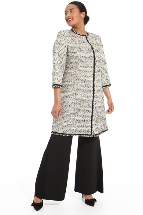 Lurex boucle duster coat Intrend