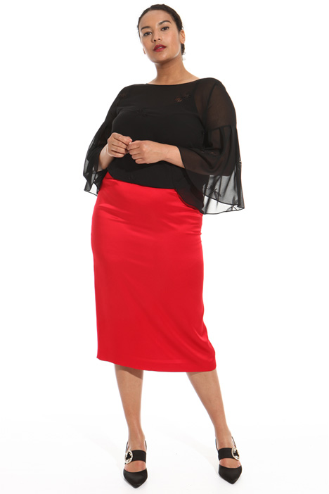 Glossy viscose skirt Intrend
