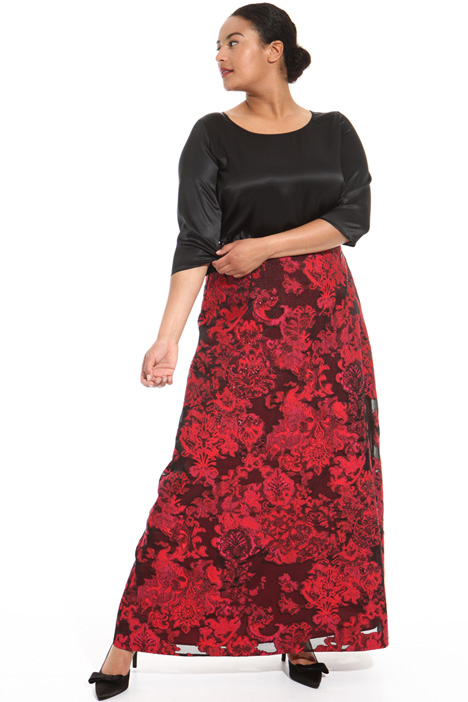 Jacquard fil coupé skirt Intrend