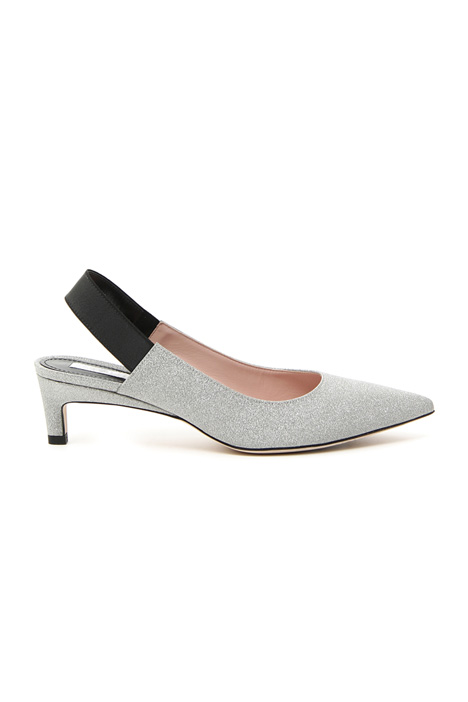 Glitter leather slingback shoe Intrend