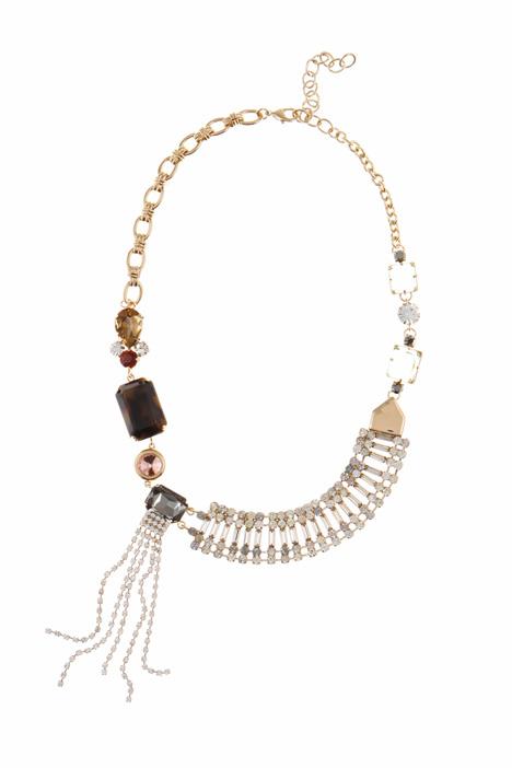 Asymmetrical collar necklace Intrend