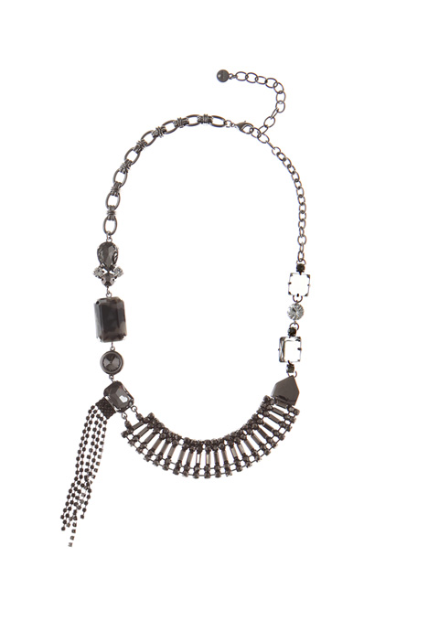 Asymmetrical collar necklace Intrend