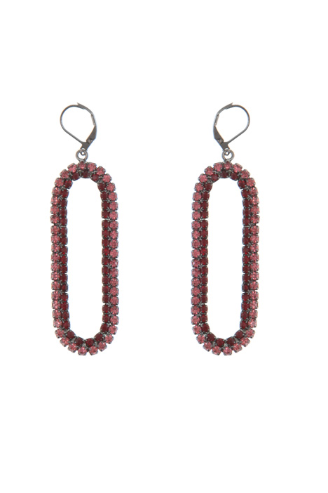 Drop earrings with rhinestones Intrend