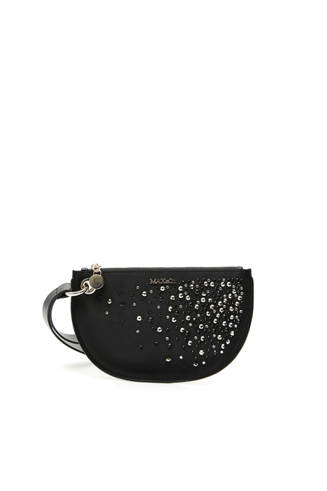 Satin and rhinestone clutch Intrend
