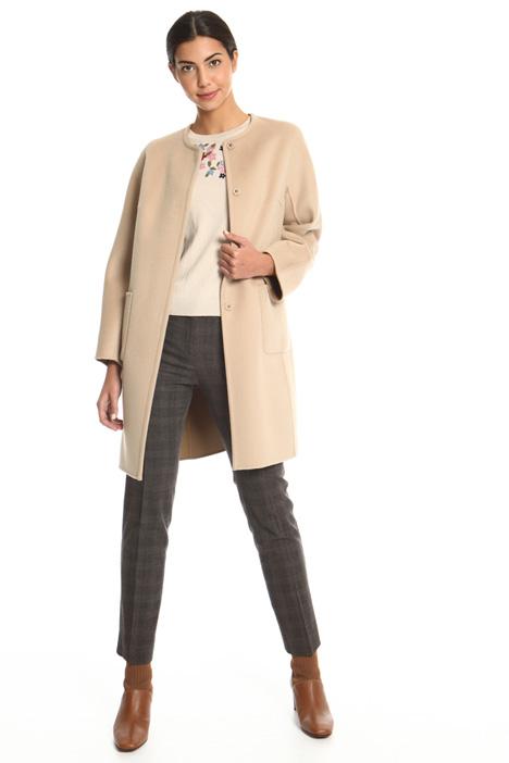 Round collar coat Intrend