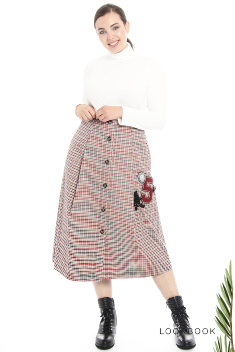Patch cotton skirt Intrend