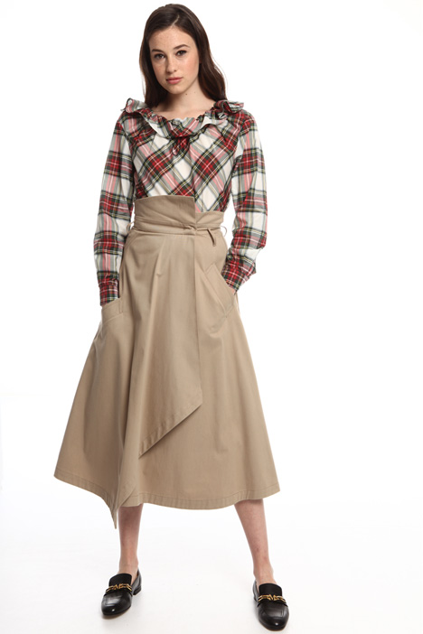 Wrap skirt in cotton Intrend