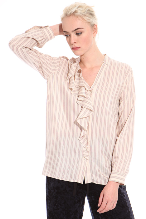 Yarn-dyed viscose shirt Intrend