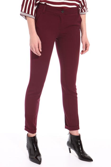 Stretch viscose blend trousers Intrend