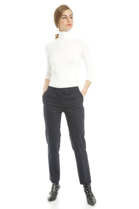 Cotton blend long trousers Intrend