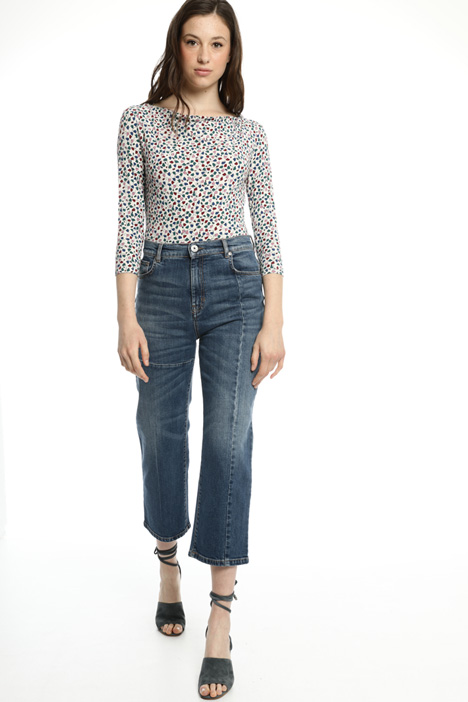 Pantaloni cropped in denim Intrend