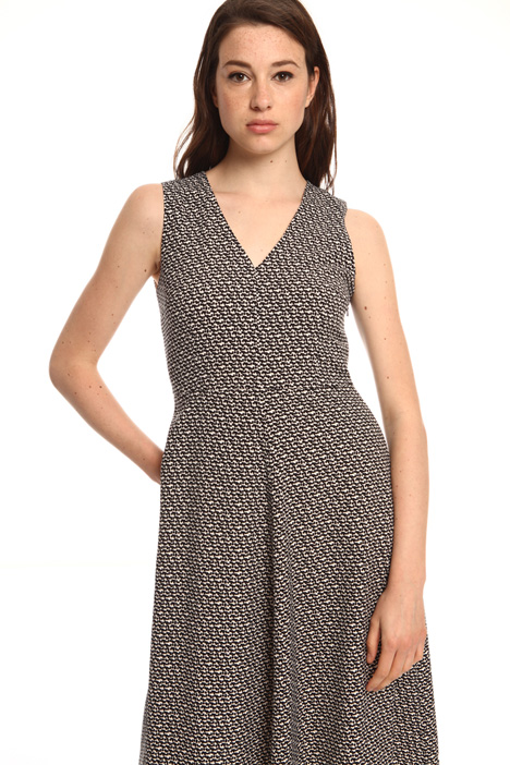 Sleeveless fabric dress  Intrend