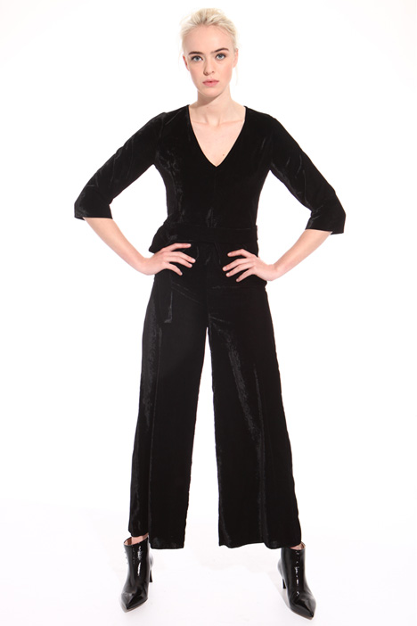 Long chenille jumpsuit Intrend