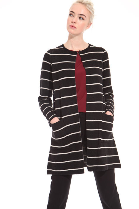 Long wool-blend cardigan Intrend
