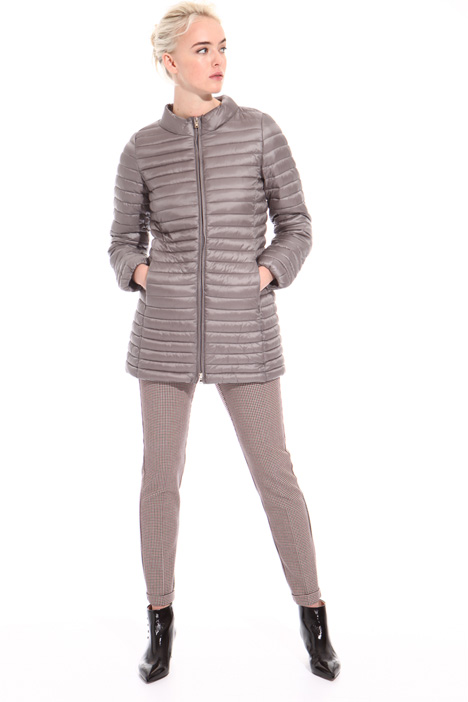 Puffer jacket with band collar Intrend