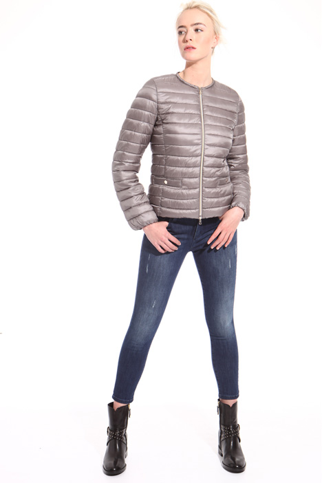 Quilted short padded jacket