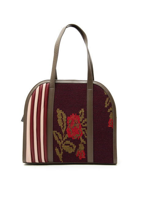 Bag with jacquard insert Intrend