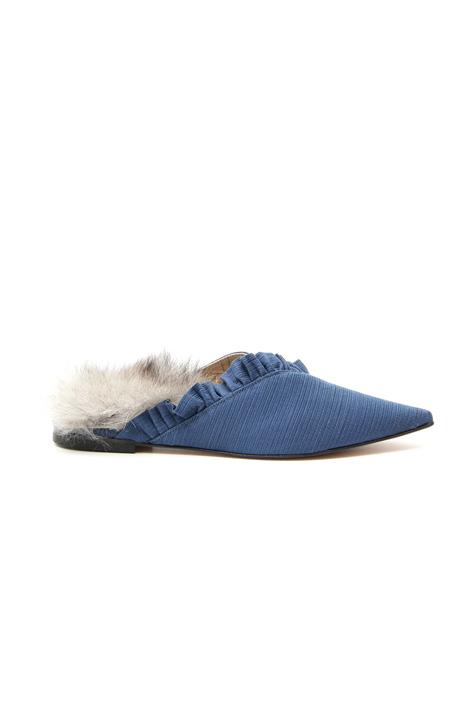 Slub fabric sabot shoes Intrend