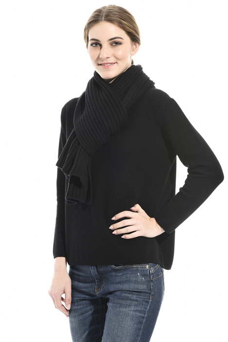 Ribbed wool blend scarf Intrend