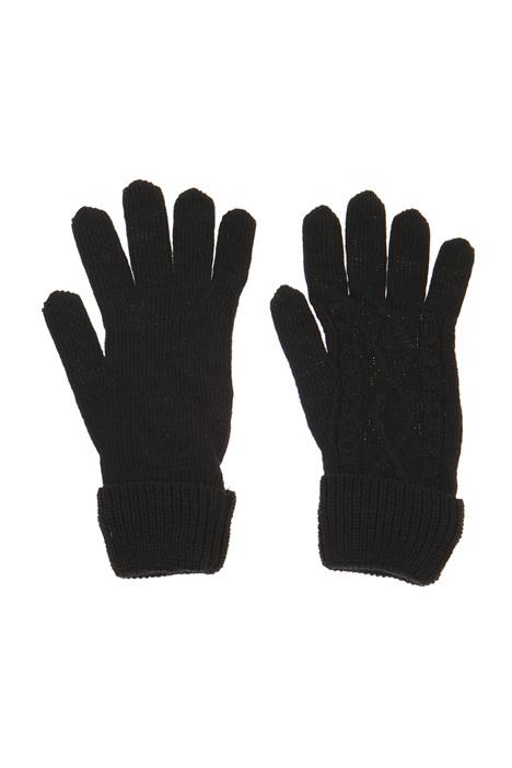 Knit wool blend gloves Intrend