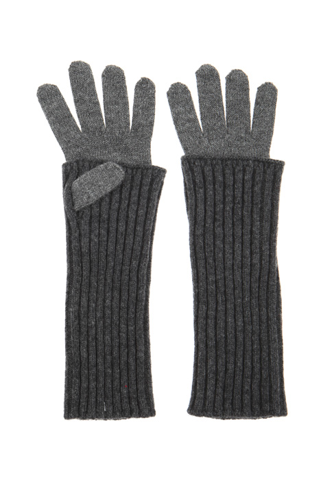 Wool blend double gloves Intrend