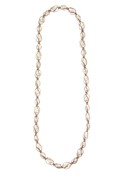 Collana in metallo con perle Intrend