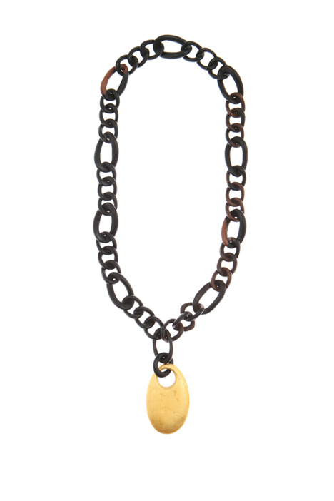 Wood necklace with pendant Intrend