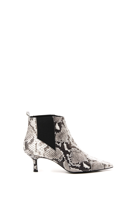 Reptile print ankle-boots Intrend