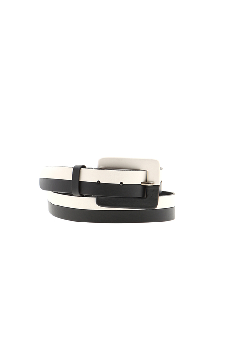 Two-tone leather belt Intrend